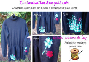 Customisation pull noir