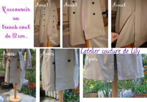 raccourcir un trench coat