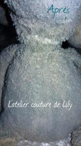 Aperçu de la couture casi invisible de son cou