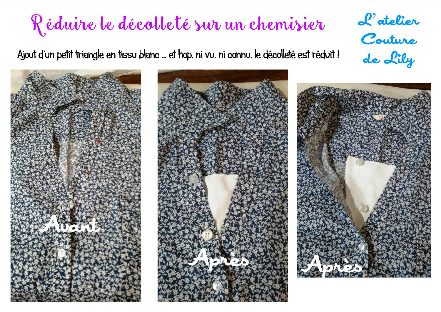 Retouche encolure chemisier