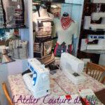 Espace couture de l'atelier de Lily
