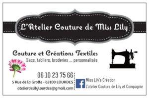 Carte de visite L'Atelier Couture de Lily